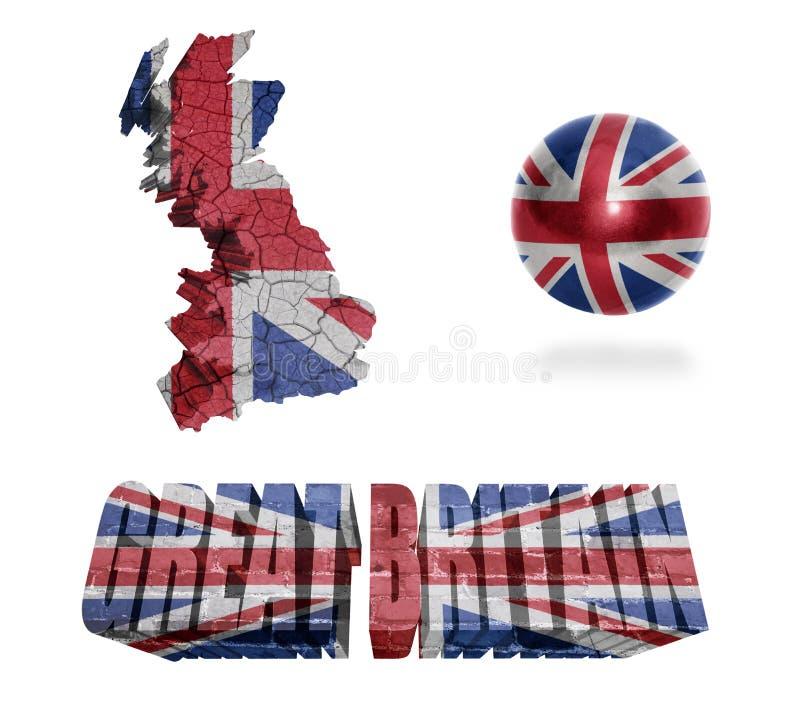 Simboli della Gran Bretagna illustrazione vettoriale