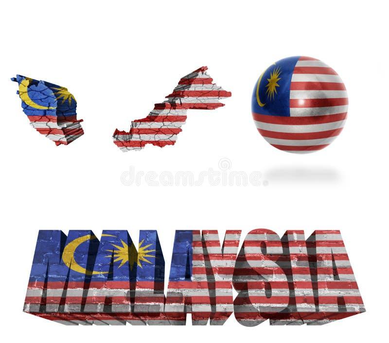 Simboli della Malesia royalty illustrazione gratis