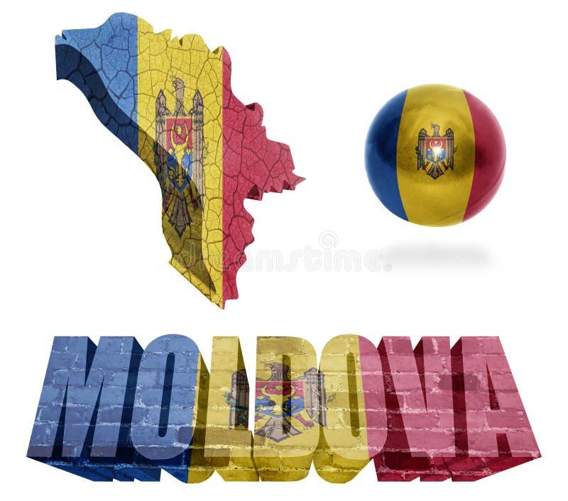 Simboli della Moldavia royalty illustrazione gratis