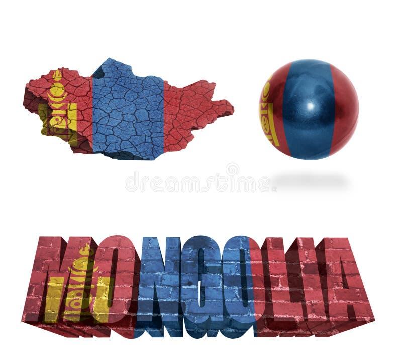 Simboli della Mongolia illustrazione di stock