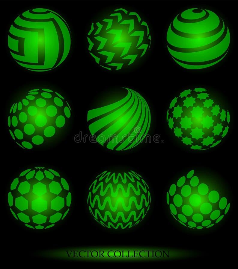 Simboli della sfera illustrazione di stock