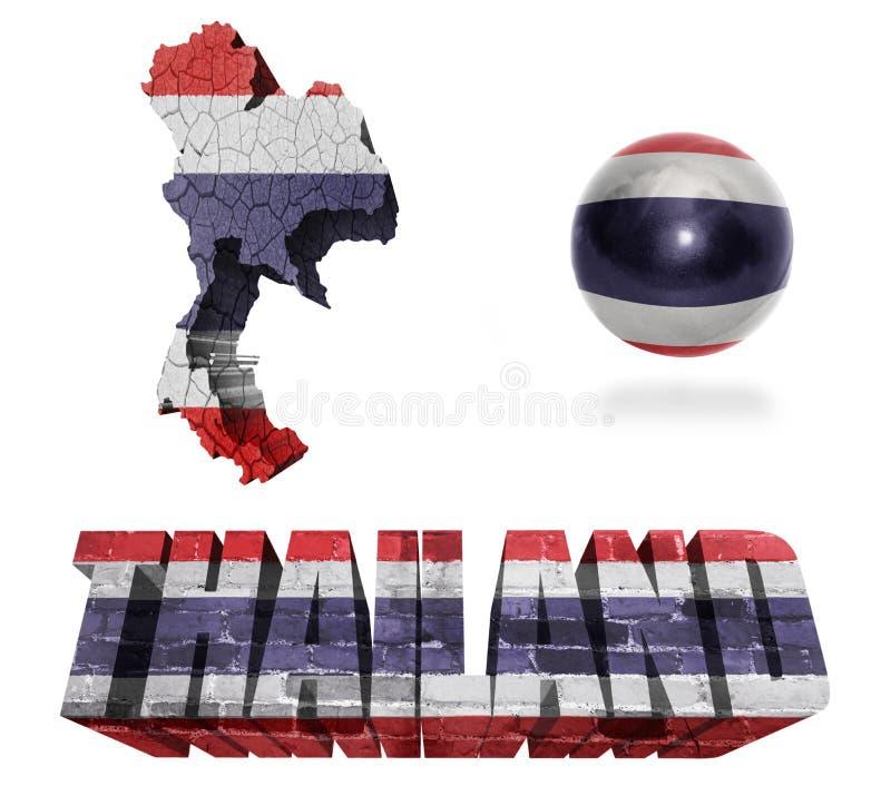Simboli della Tailandia royalty illustrazione gratis