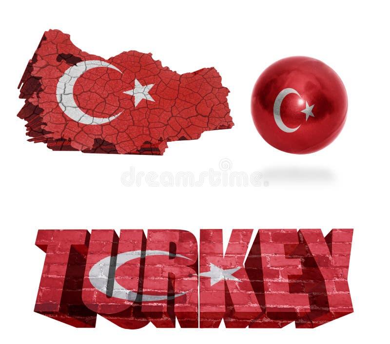 Simboli della Turchia royalty illustrazione gratis