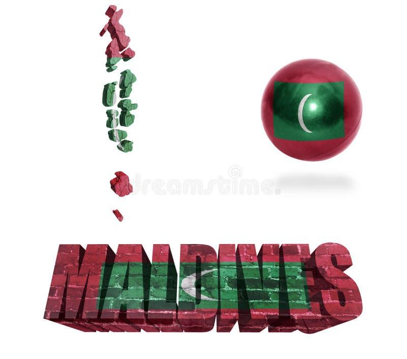 Simboli delle Maldive illustrazione vettoriale
