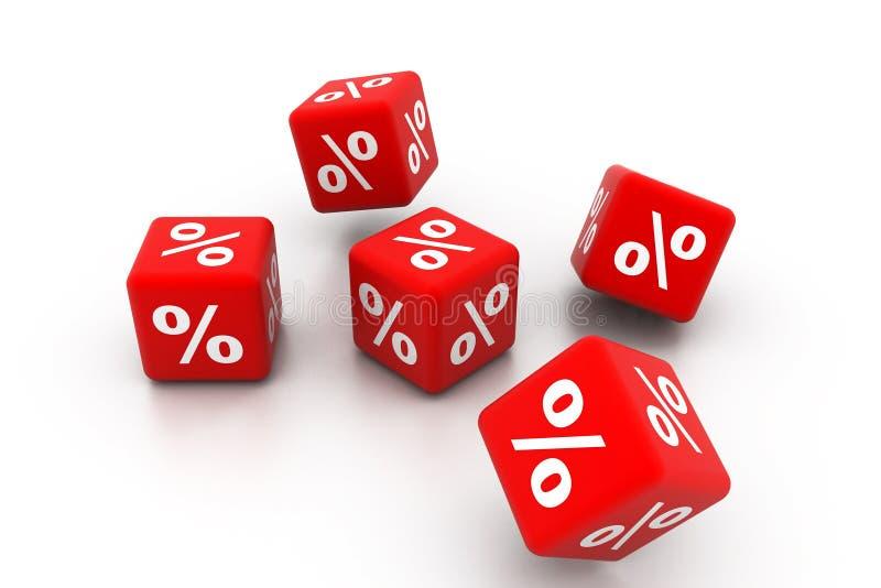 Simboli delle percentuali illustrazione vettoriale