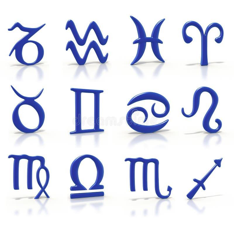 Simboli dello zodiaco royalty illustrazione gratis