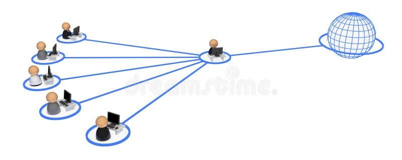 Simboli di affari, collegamento di procura illustrazione di stock