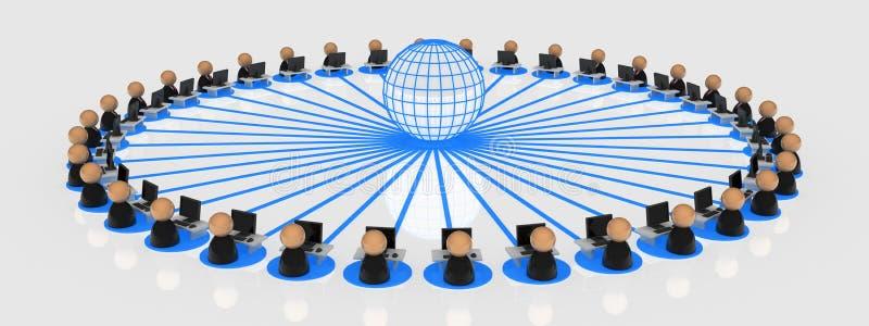 Simboli di affari, utilizzatori internet illustrazione di stock