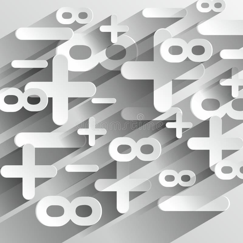 Simboli di Calcul di per la matematica royalty illustrazione gratis