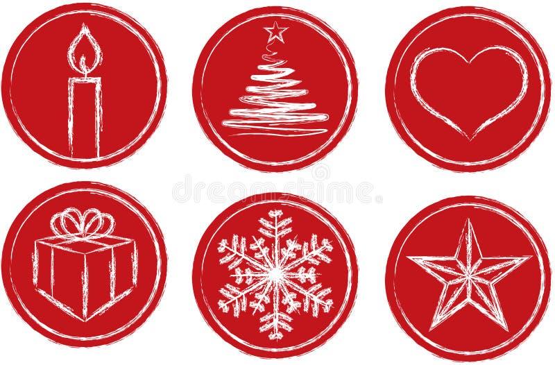 Simboli di Chistmas illustrazione di stock