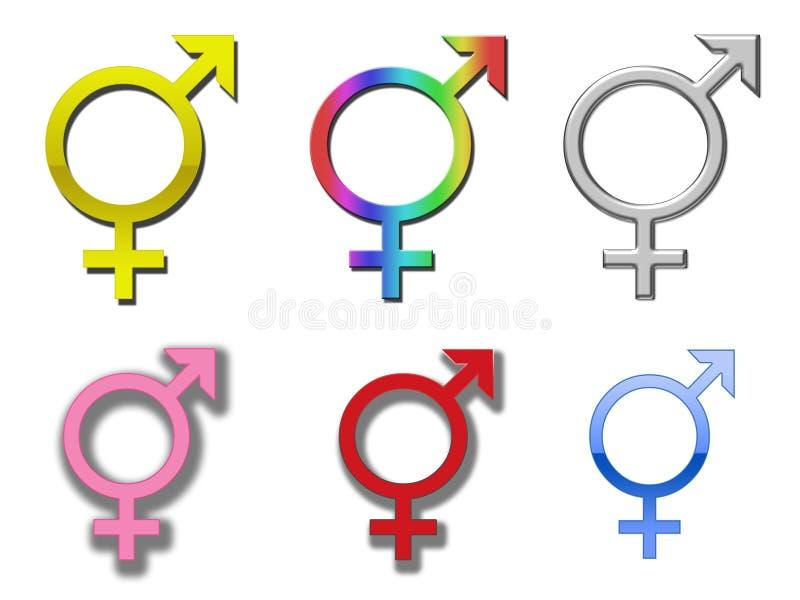 Simboli di diversità illustrazione vettoriale