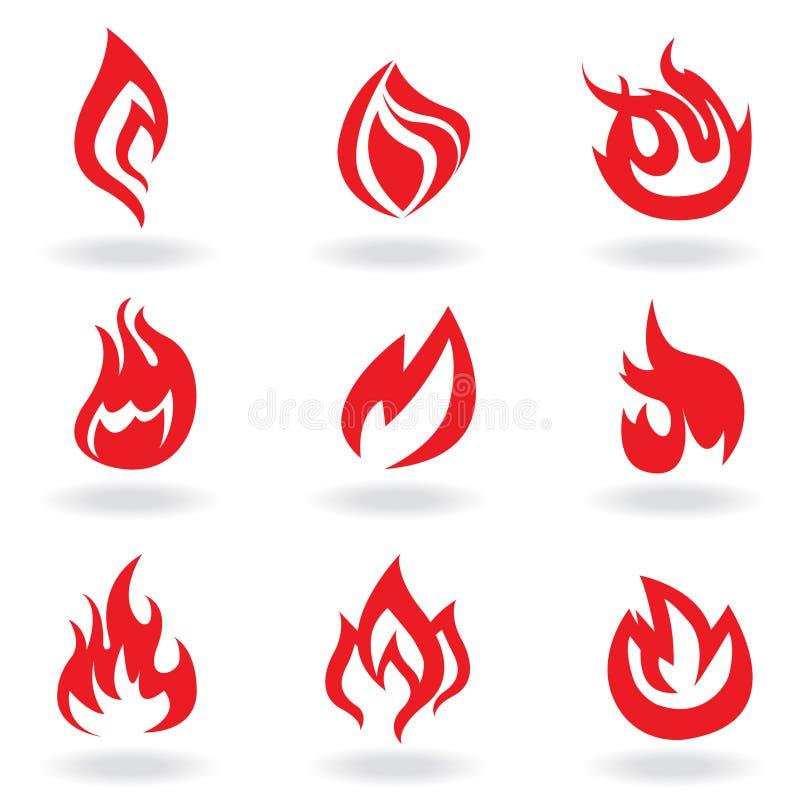 Simboli di fuoco royalty illustrazione gratis