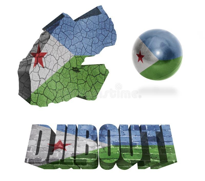 Simboli di Gibuti illustrazione vettoriale