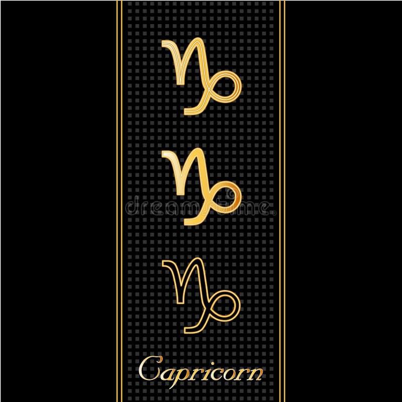 Simboli di Horoscope del Capricorn (E royalty illustrazione gratis