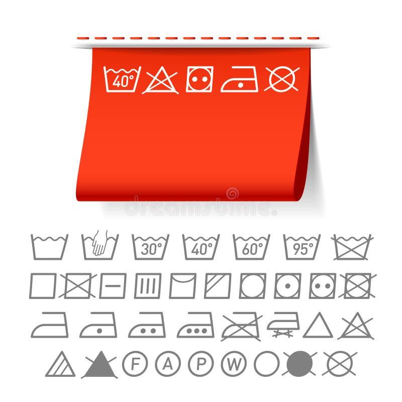 Simboli di lavaggio illustrazione vettoriale