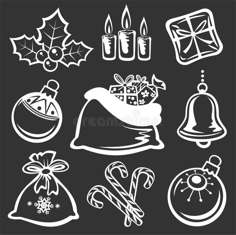 Simboli di natale illustrazione di stock