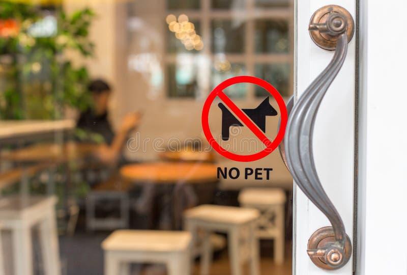 Simboli di nessun animali domestici fotografia stock libera da diritti