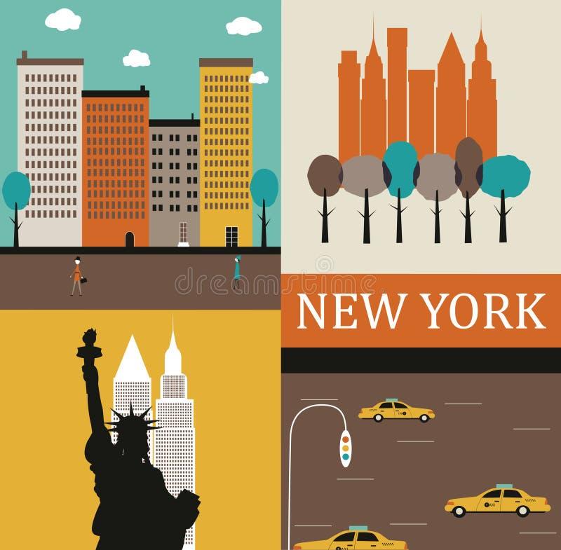 New York. illustrazione vettoriale