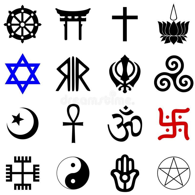 Simboli di religioni royalty illustrazione gratis