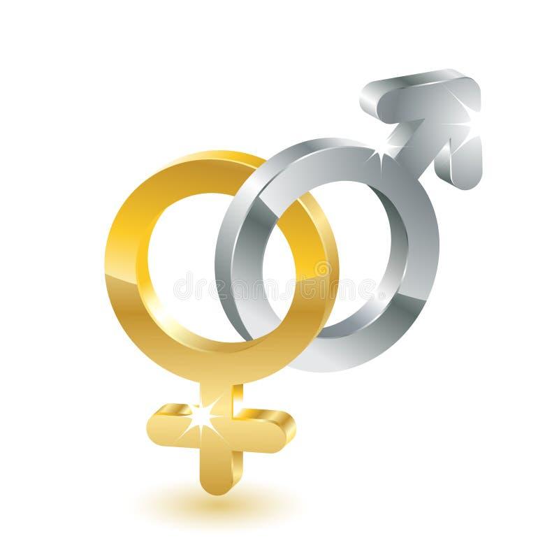 Simboli di sesso illustrazione di stock