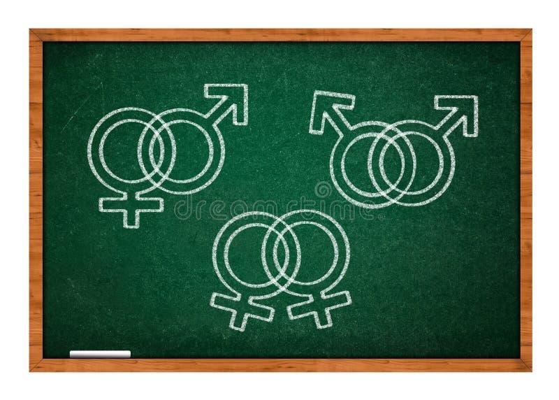 Simboli di sesso fotografia stock libera da diritti