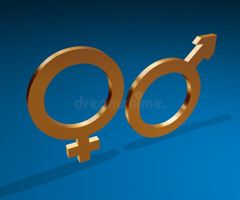 Simboli di sesso illustrazione vettoriale