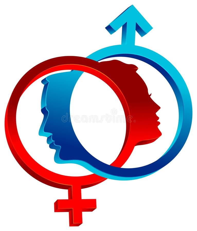 Simboli di sesso collegati royalty illustrazione gratis