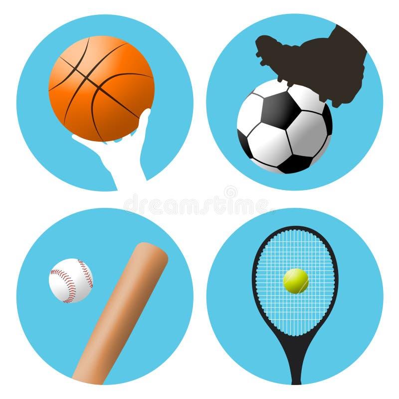Simboli di sport royalty illustrazione gratis