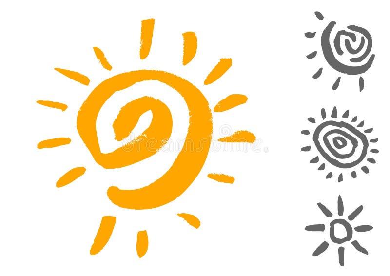Simboli di Sun royalty illustrazione gratis
