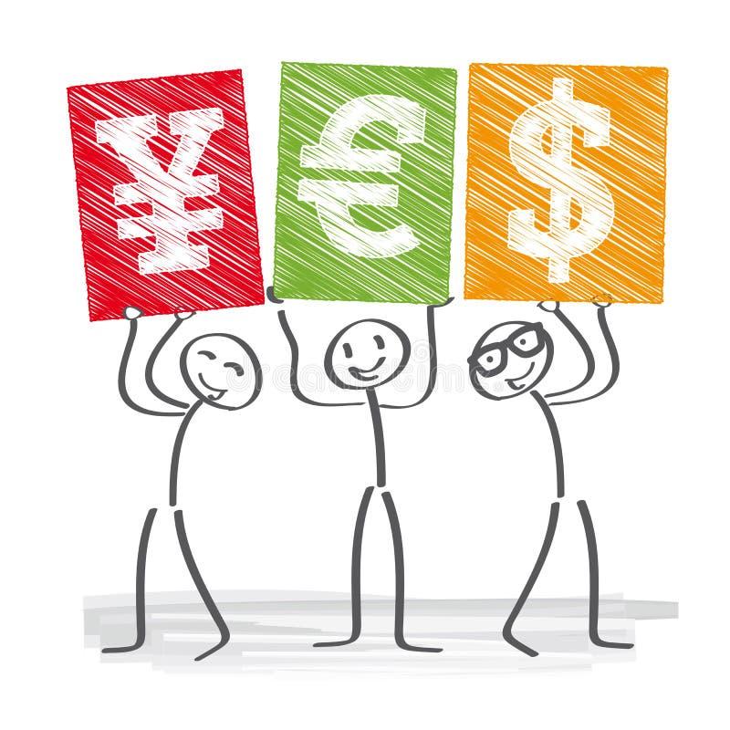 Simboli di valuta illustrazione vettoriale