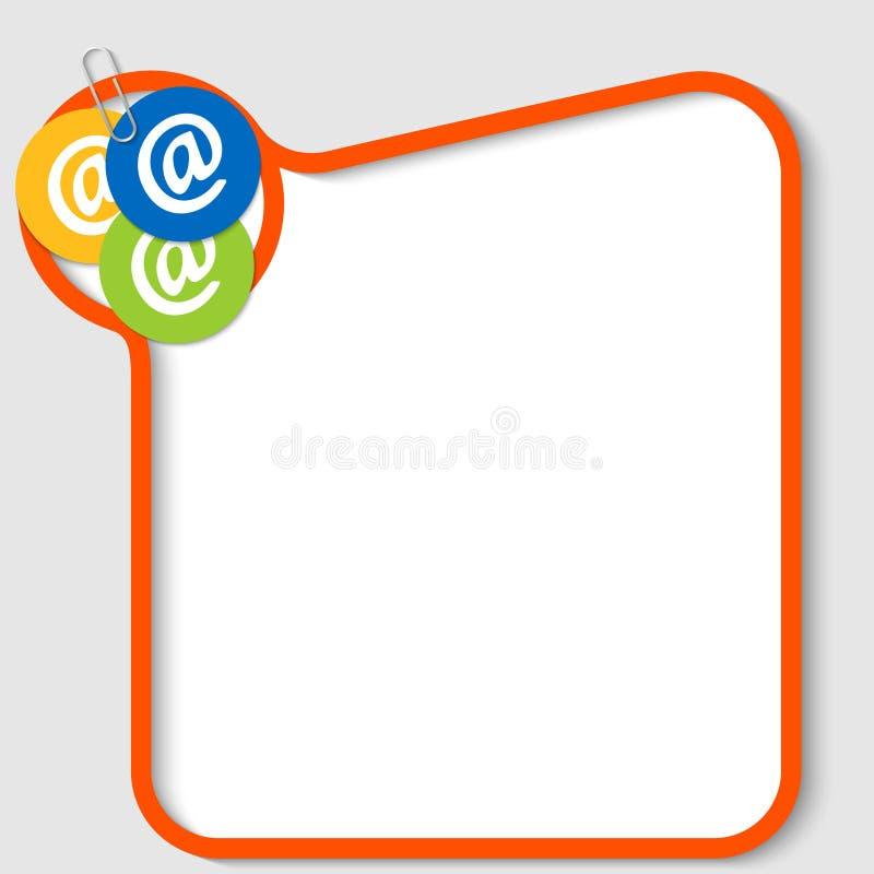 simboli e graffetta del email illustrazione di stock