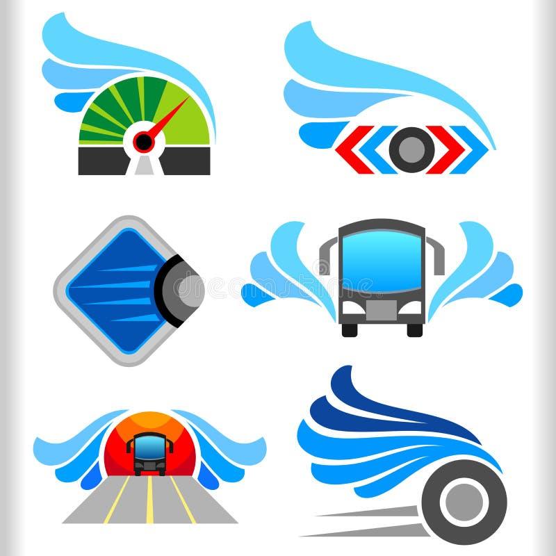 Simboli ed icone astratti di trasporto royalty illustrazione gratis