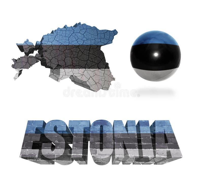 Simboli estoni royalty illustrazione gratis
