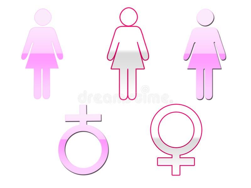 Simboli femminili illustrazione di stock