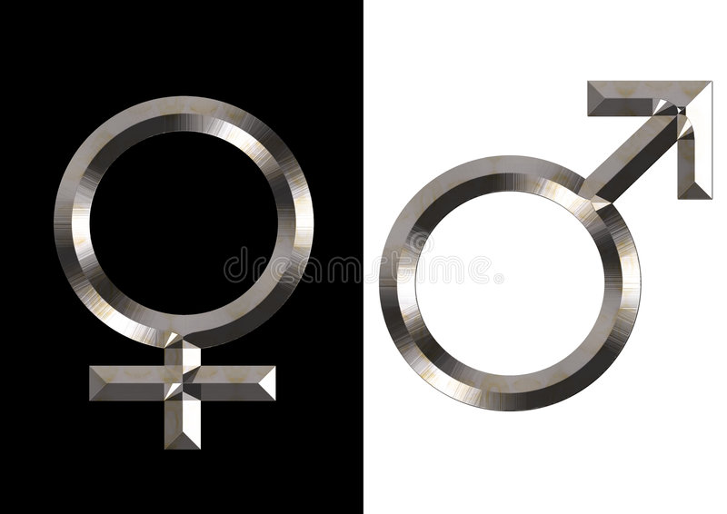 Simboli femminili e maschii royalty illustrazione gratis