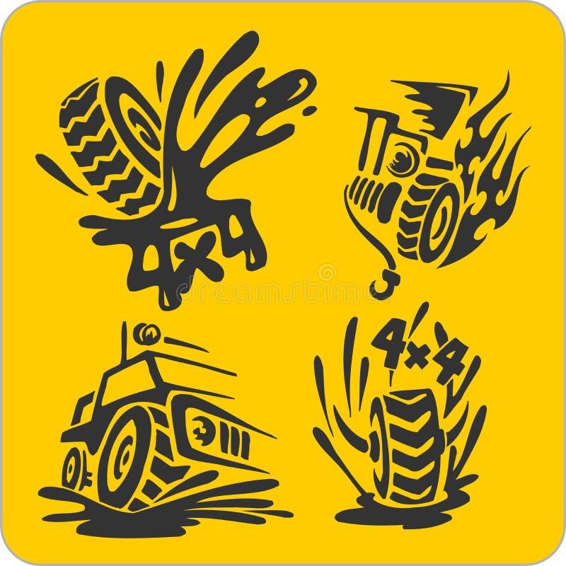 Simboli fuori strada - insieme di vettore illustrazione vettoriale