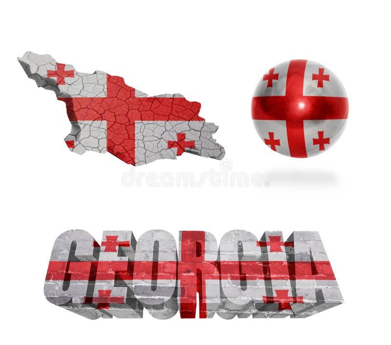 Simboli georgiani illustrazione vettoriale