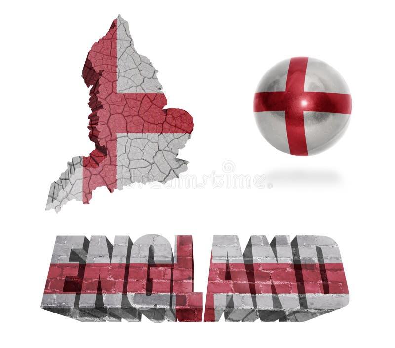 Simboli inglesi illustrazione di stock