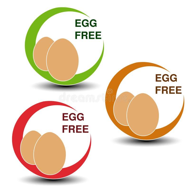Simboli liberi dell'uovo su fondo bianco Uova delle siluette in un cerchio con ombra royalty illustrazione gratis