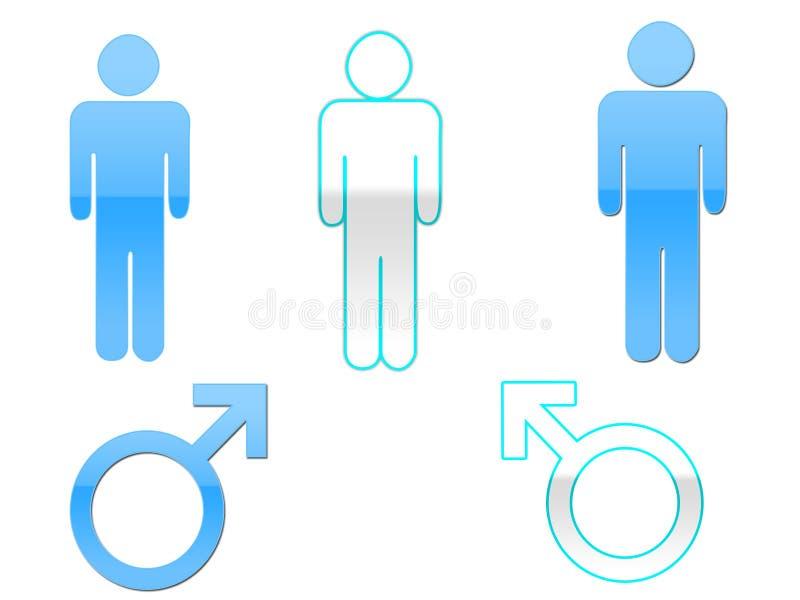Simboli maschii di genere illustrazione di stock