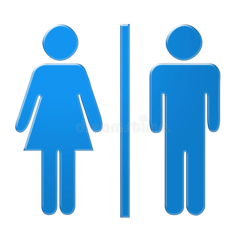Simboli maschii e femminili illustrazione vettoriale