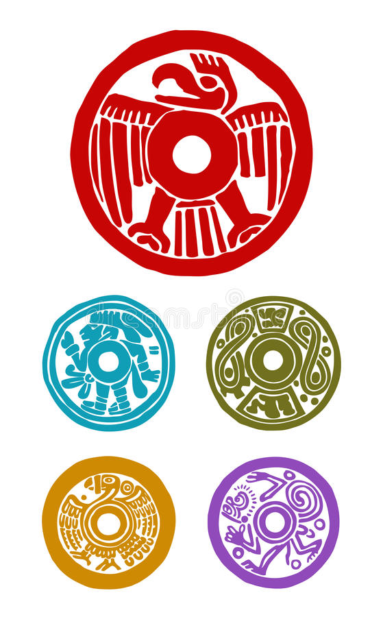 Simboli maya illustrazione vettoriale