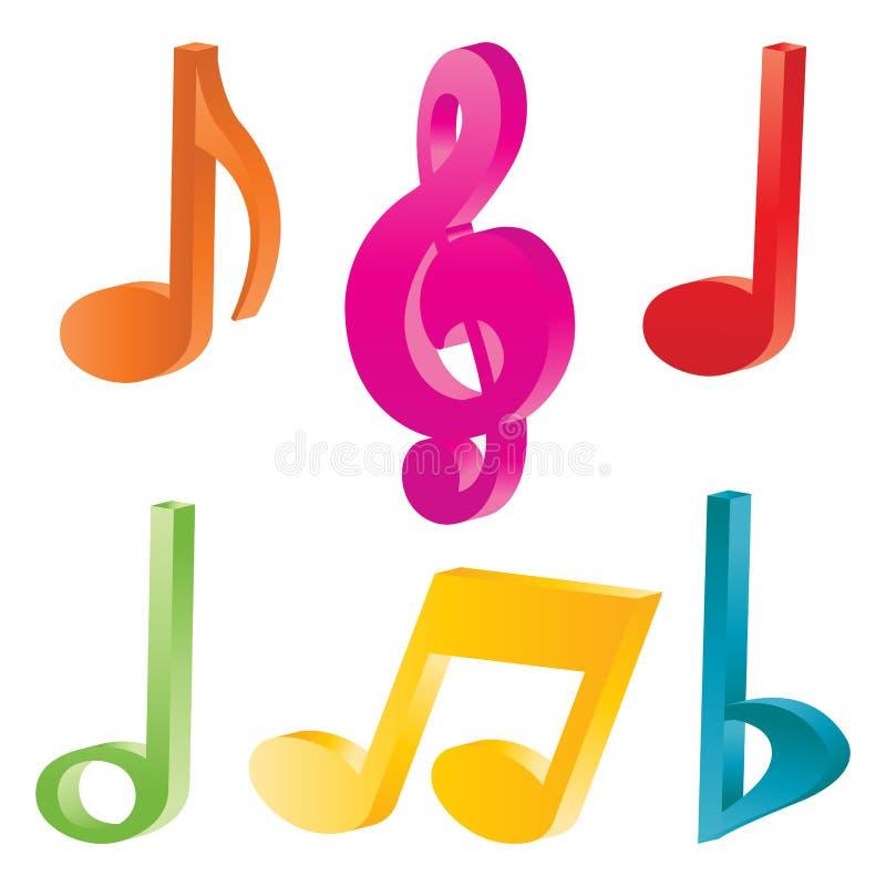 Simboli musicali illustrazione vettoriale