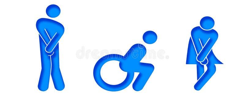 Simboli per il wc immagine stock immagine 28153221