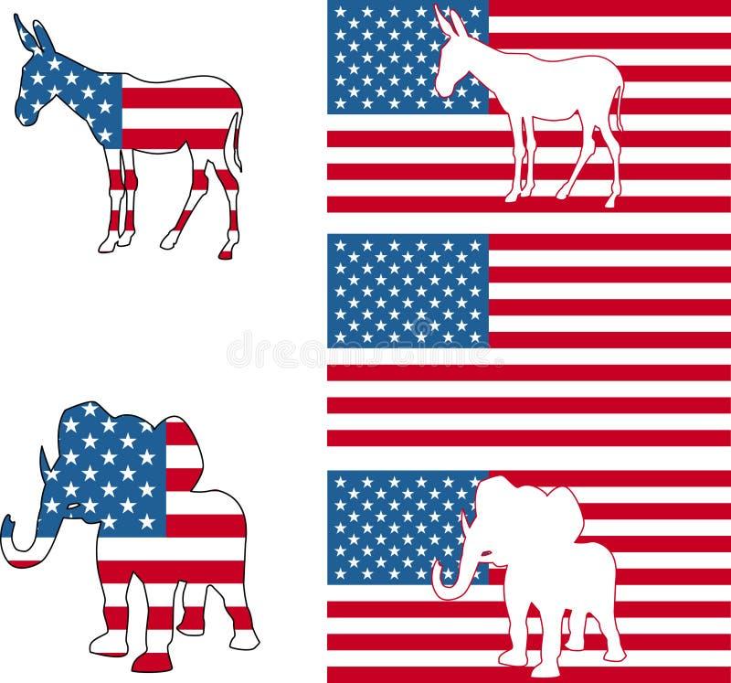 Simboli politici americani royalty illustrazione gratis