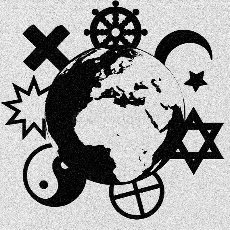 Simboli religiosi illustrazione vettoriale