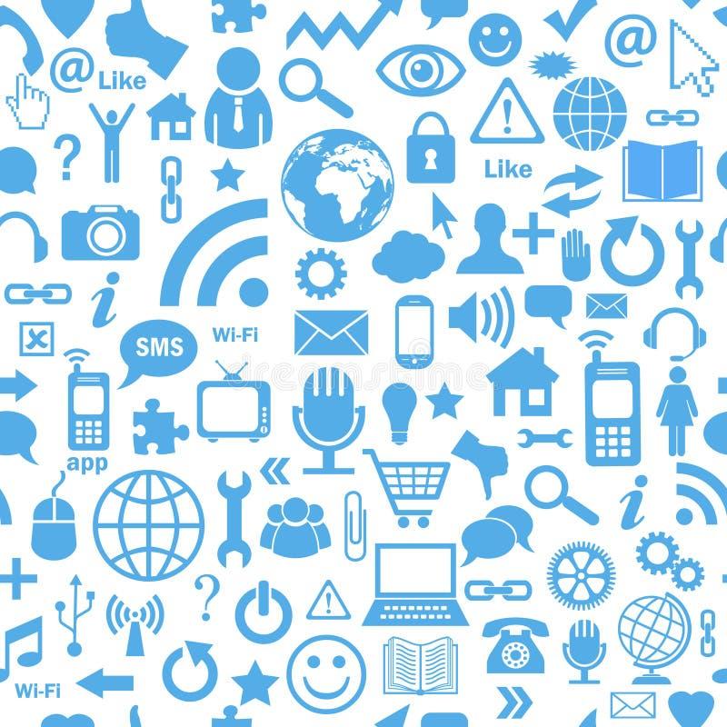 Media sociali senza cuciture illustrazione vettoriale