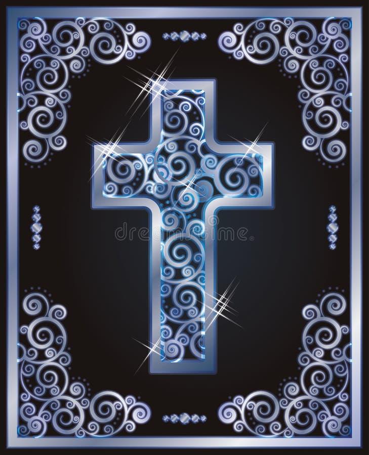 Simboli trasversali cristiani, vettore illustrazione vettoriale