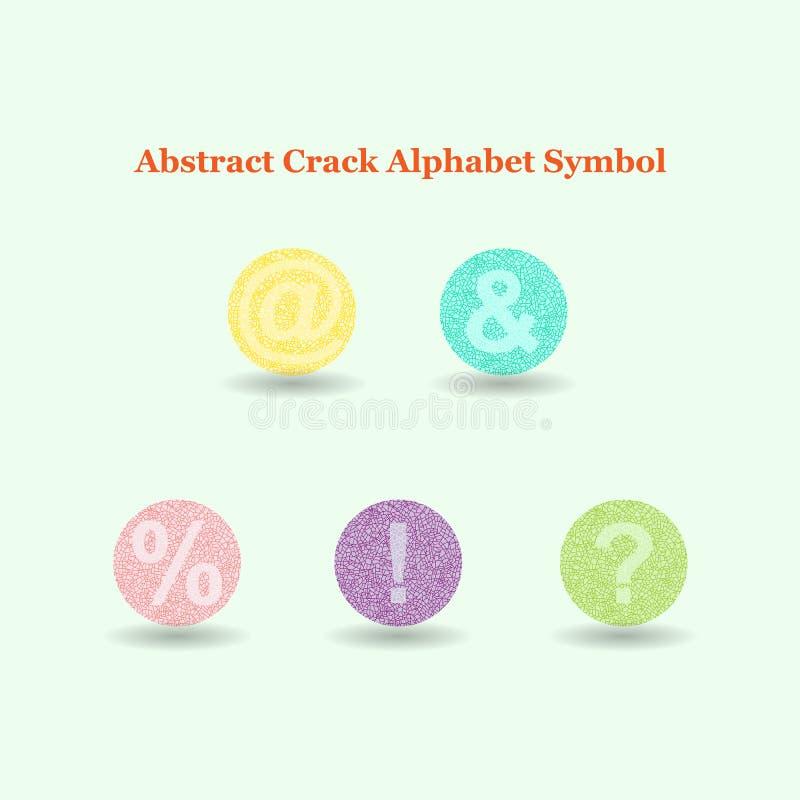 Simboli variopinti astratti di alfabeto della crepa fotografie stock libere da diritti