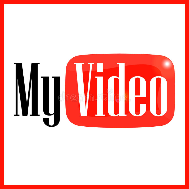Simbolice mi vídeo ilustración del vector